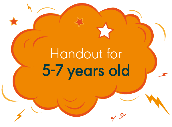 Handout for 5-7 years old